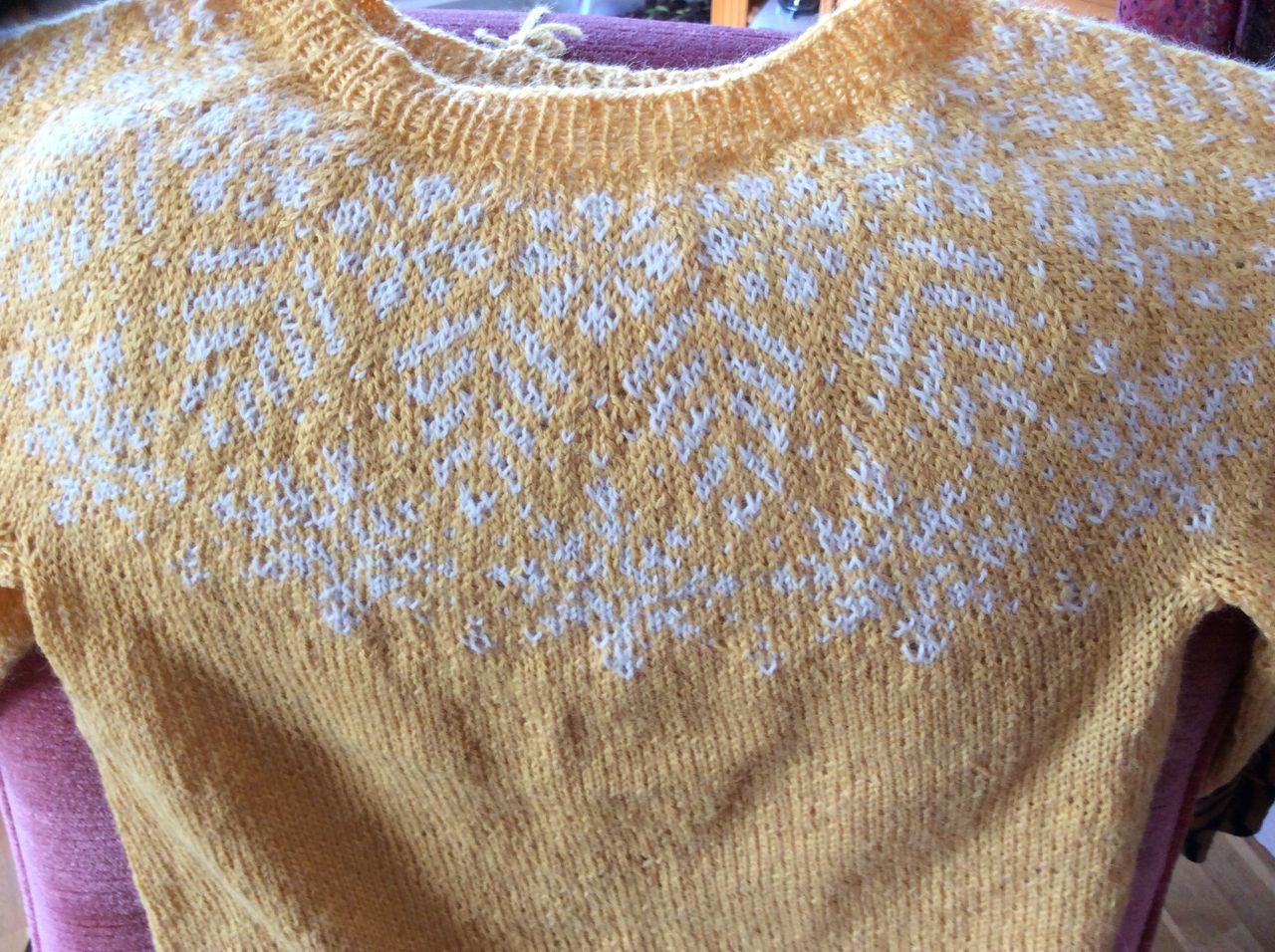 Lilla genser med sentral modell | Senpolia håndlaget