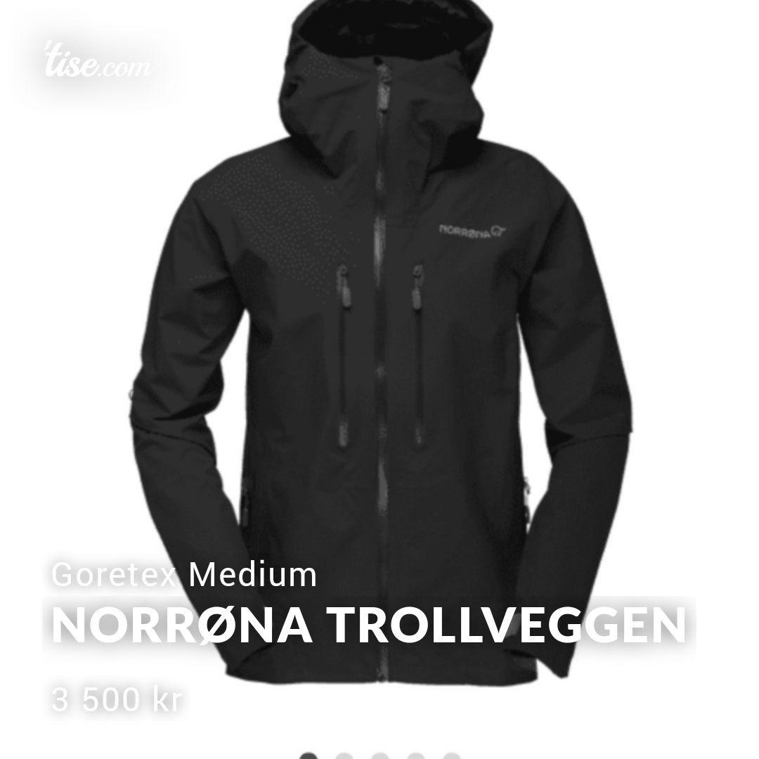 Svart Norrøna Falketind GTX Pro Jakke