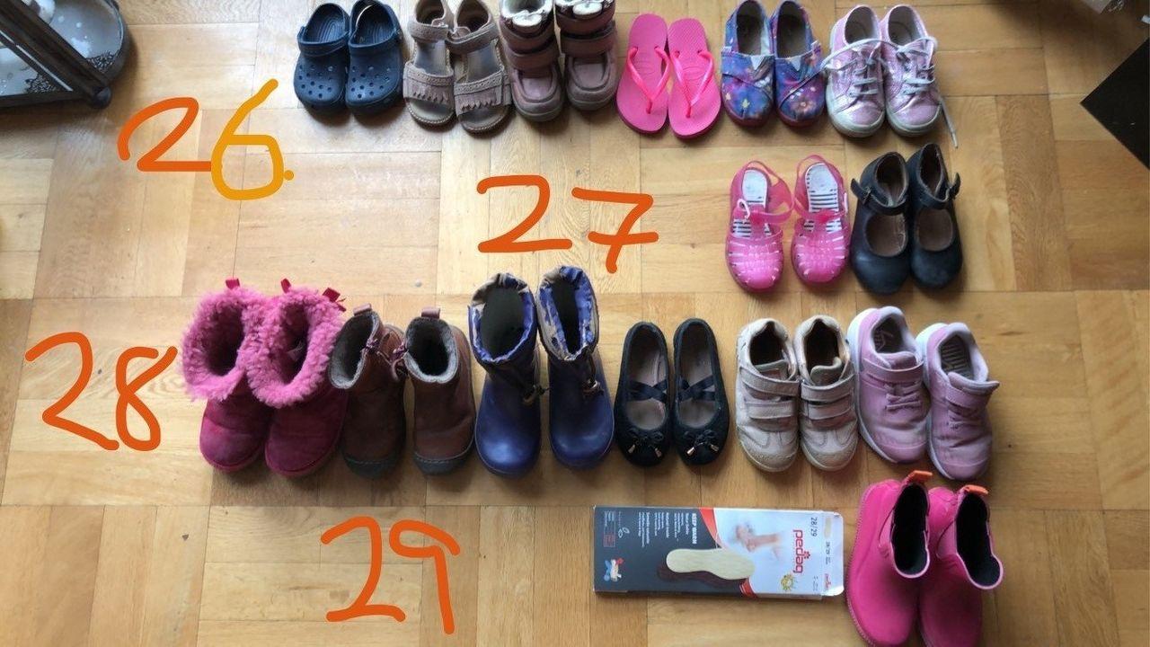 Sko str 26, 27, 28 og 29. Bisgaard, Nike, Swims, Toms, Uggs