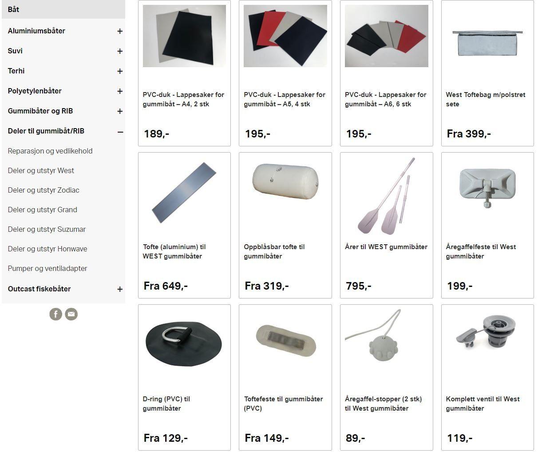 Div. nytt utstyr til gummibåt aqua marina | FINN.no