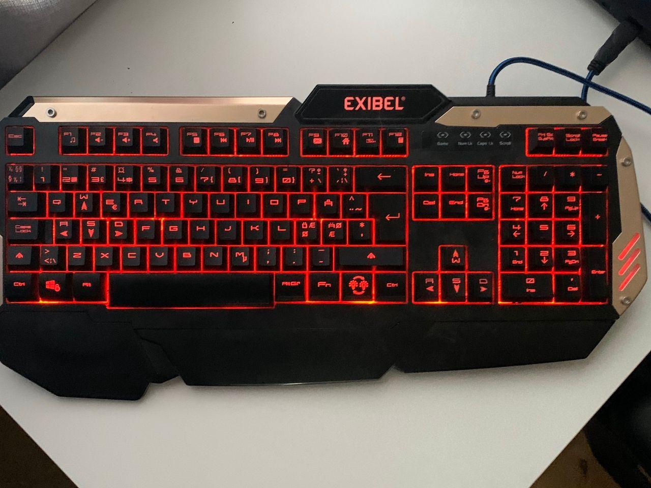 EXIBEL gaming tastatur | FINN.no