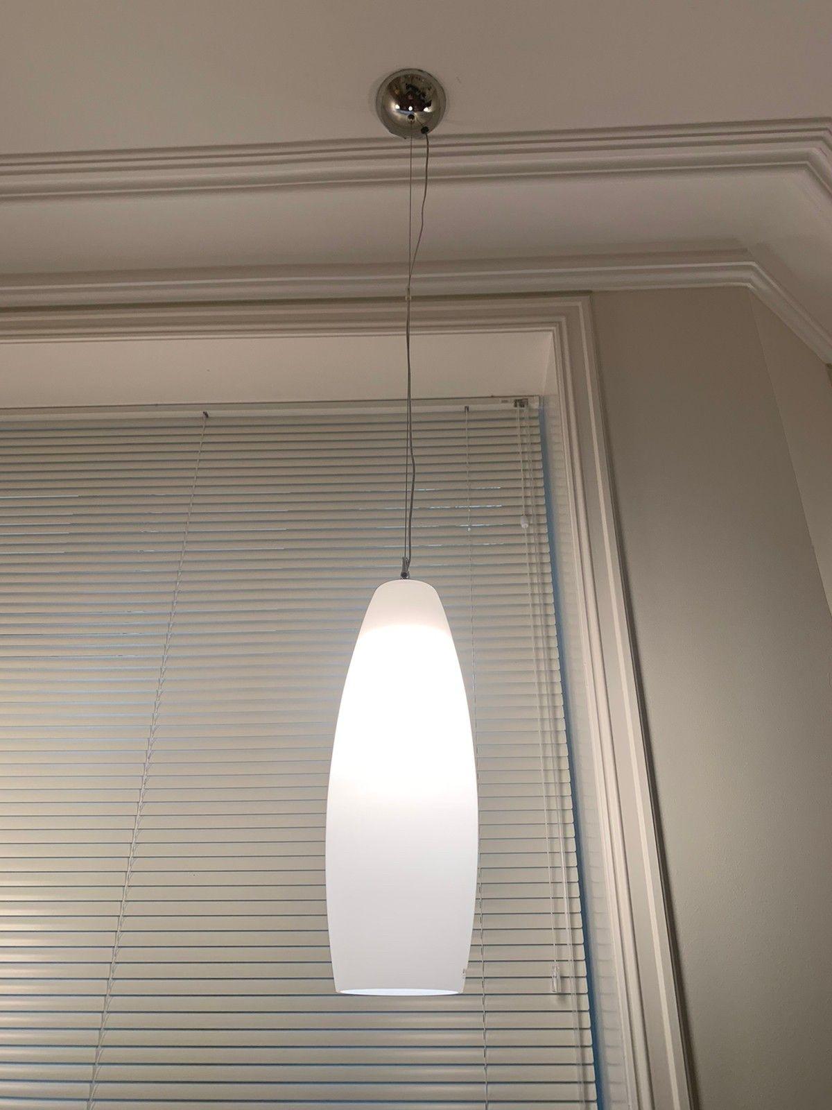 2 stk glass italiensk design lamper pendant fra RUGGIU