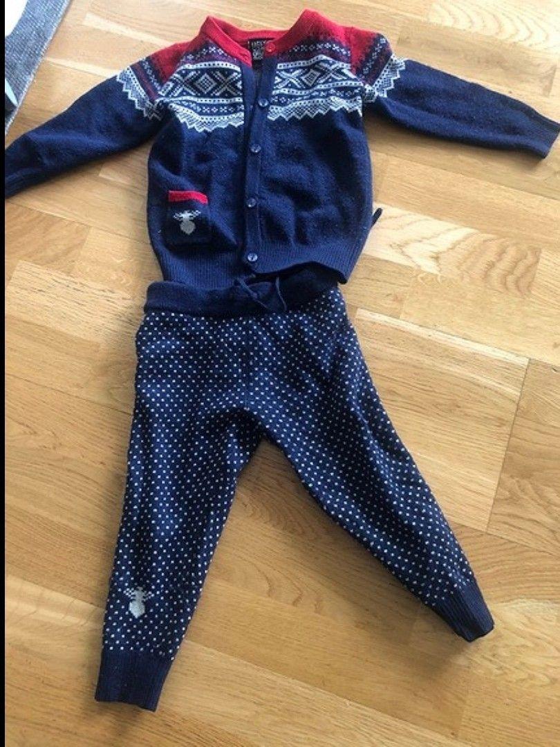 genser med sommerfugler og bukse i str 2 år Epla