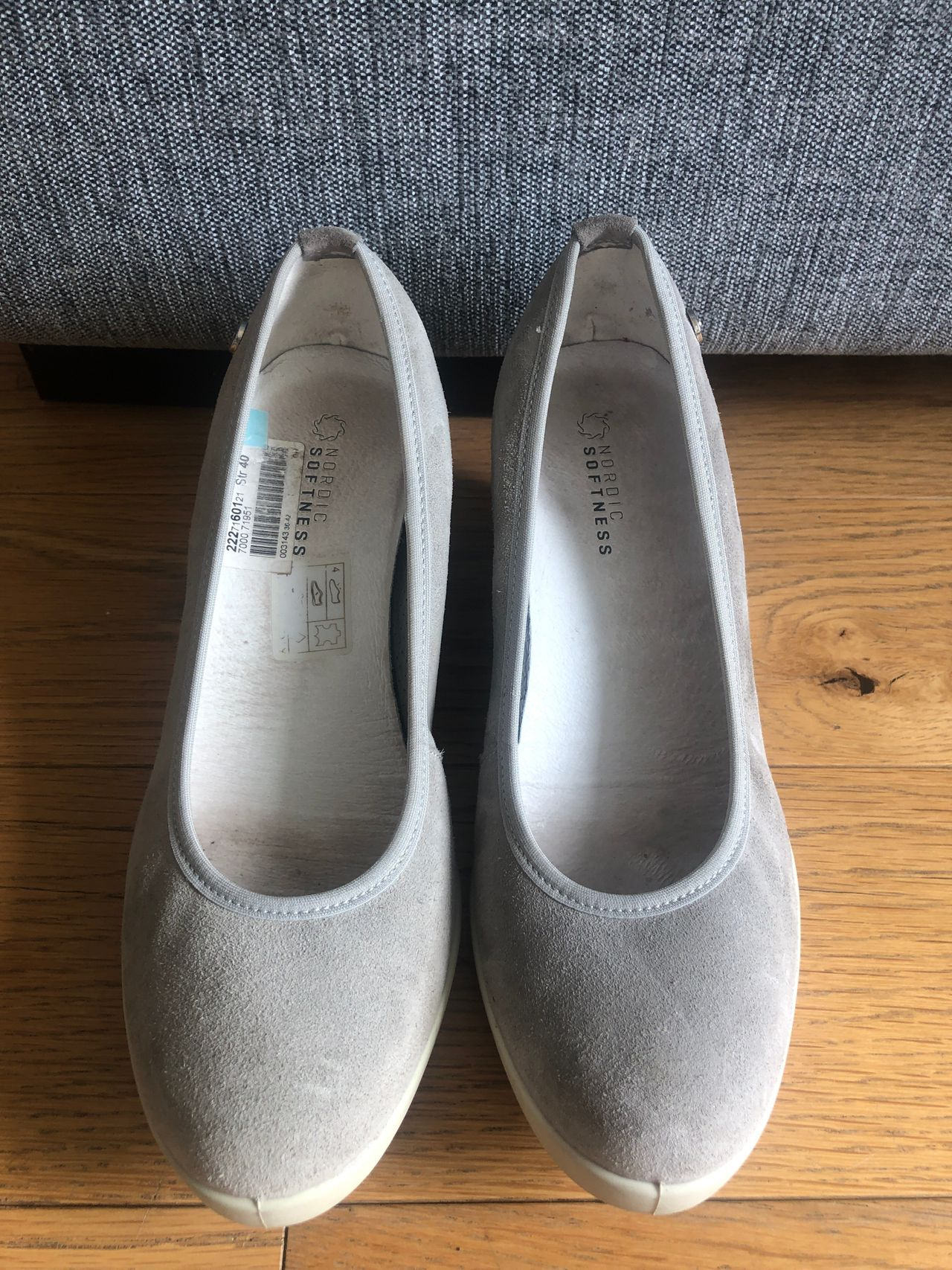 Flotte og gode kilehæl sko fra Nordic Softness str 40.Made