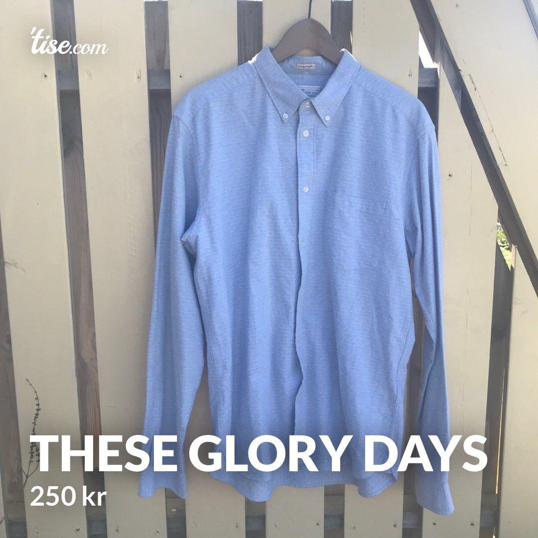 These glory days skjorte strl M. Brukt 1 gang! | FINN.no