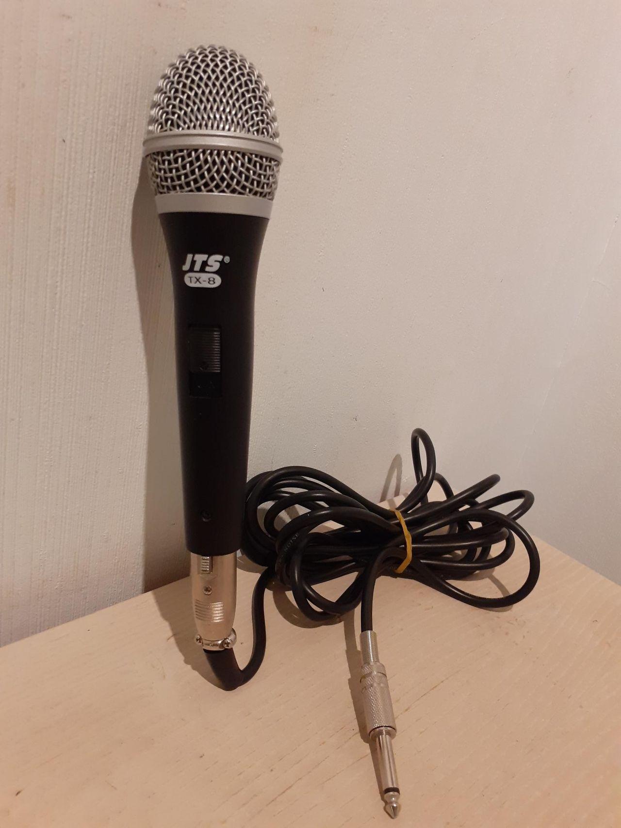 JTS TX 8 dynamisk mikrofon med lang kabel | FINN.no