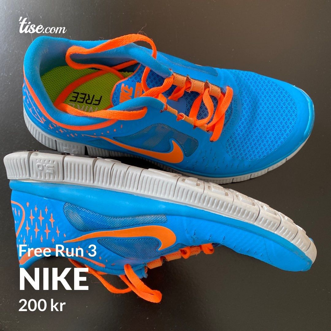suficiente El camarero Sierra  Nike Free Run 3 | FINN.no