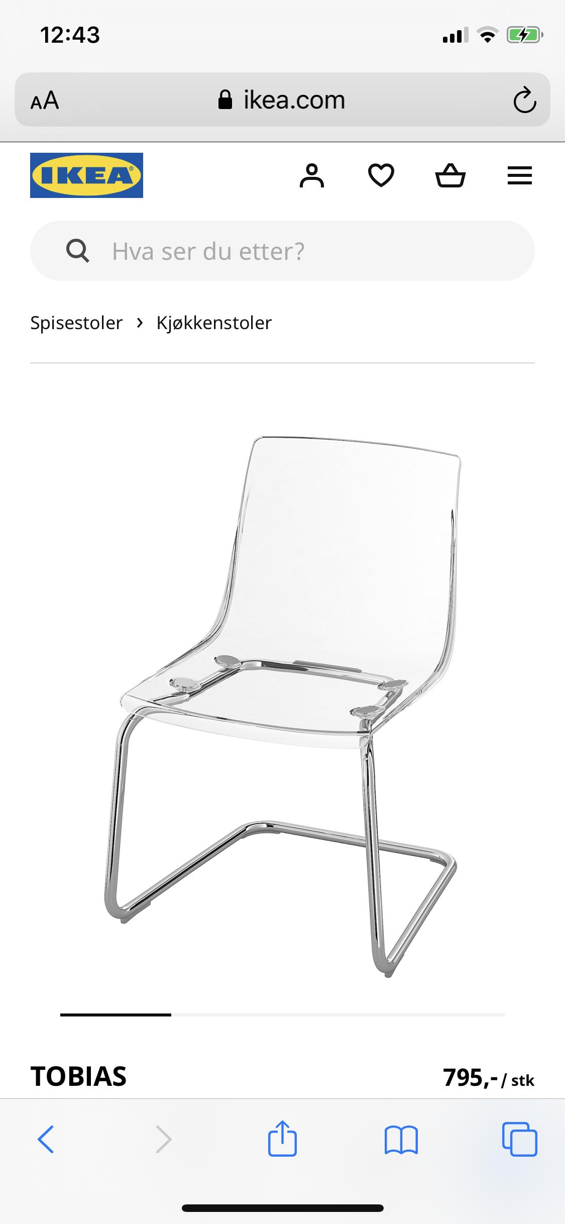 Noen som har Tobias spisestuestoler fra IKEA