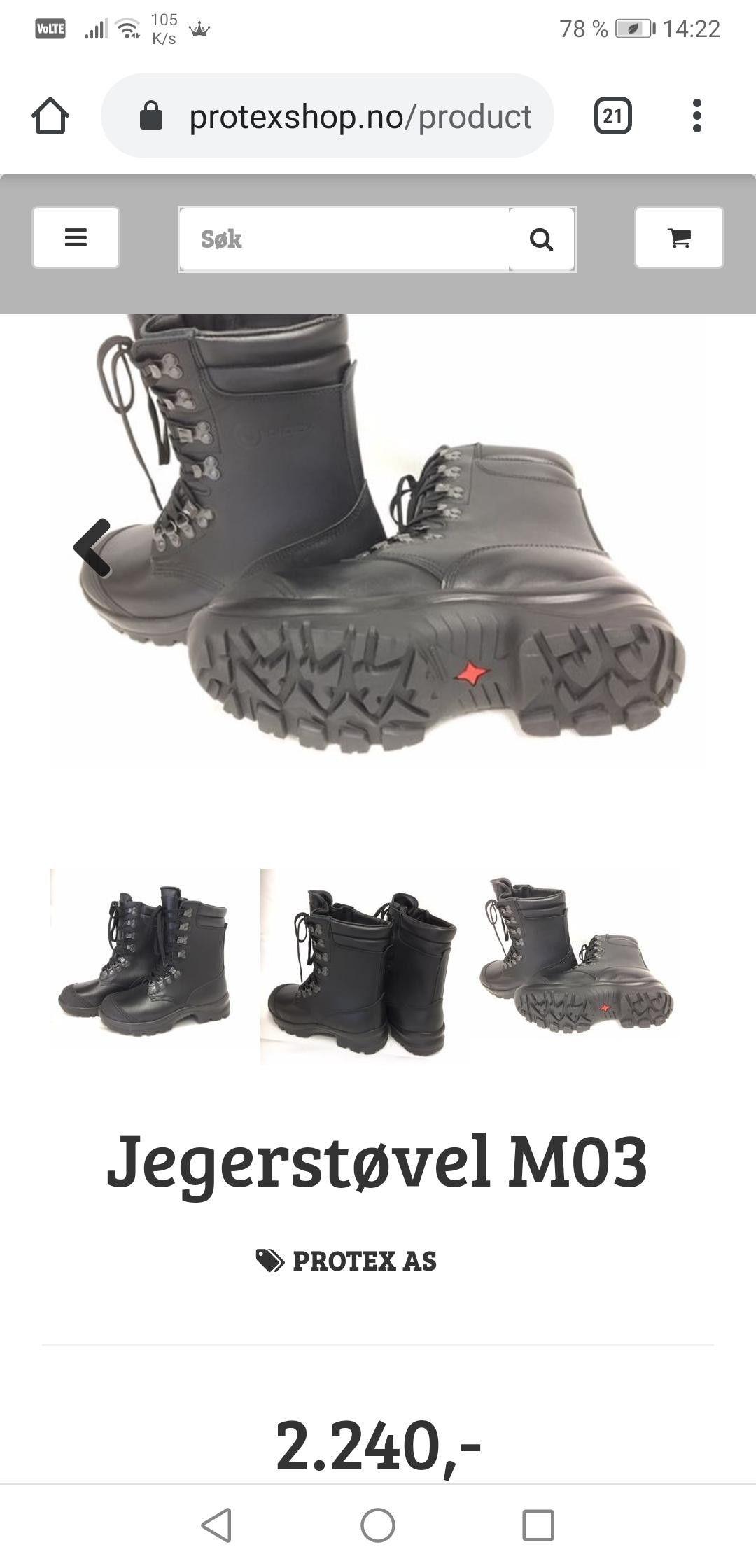 Forsvarets jeger støvler M03 (39) ubrukt | FINN.no