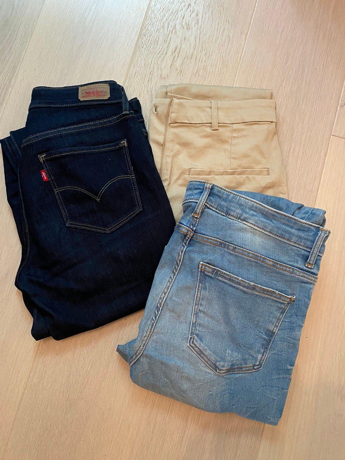 Levis olabukse og to andra bukser | FINN.no