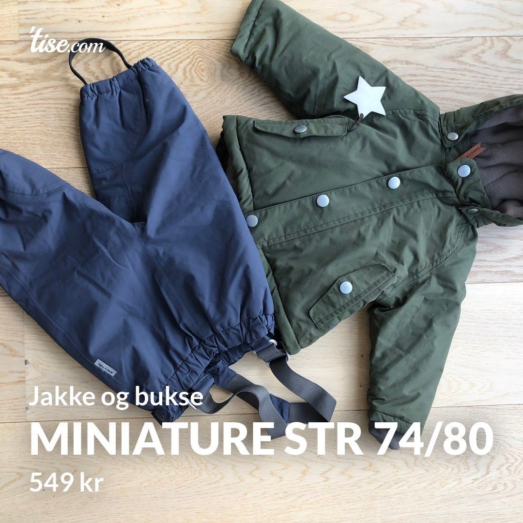 MiniAture vinterjakke str 74 | FINN.no