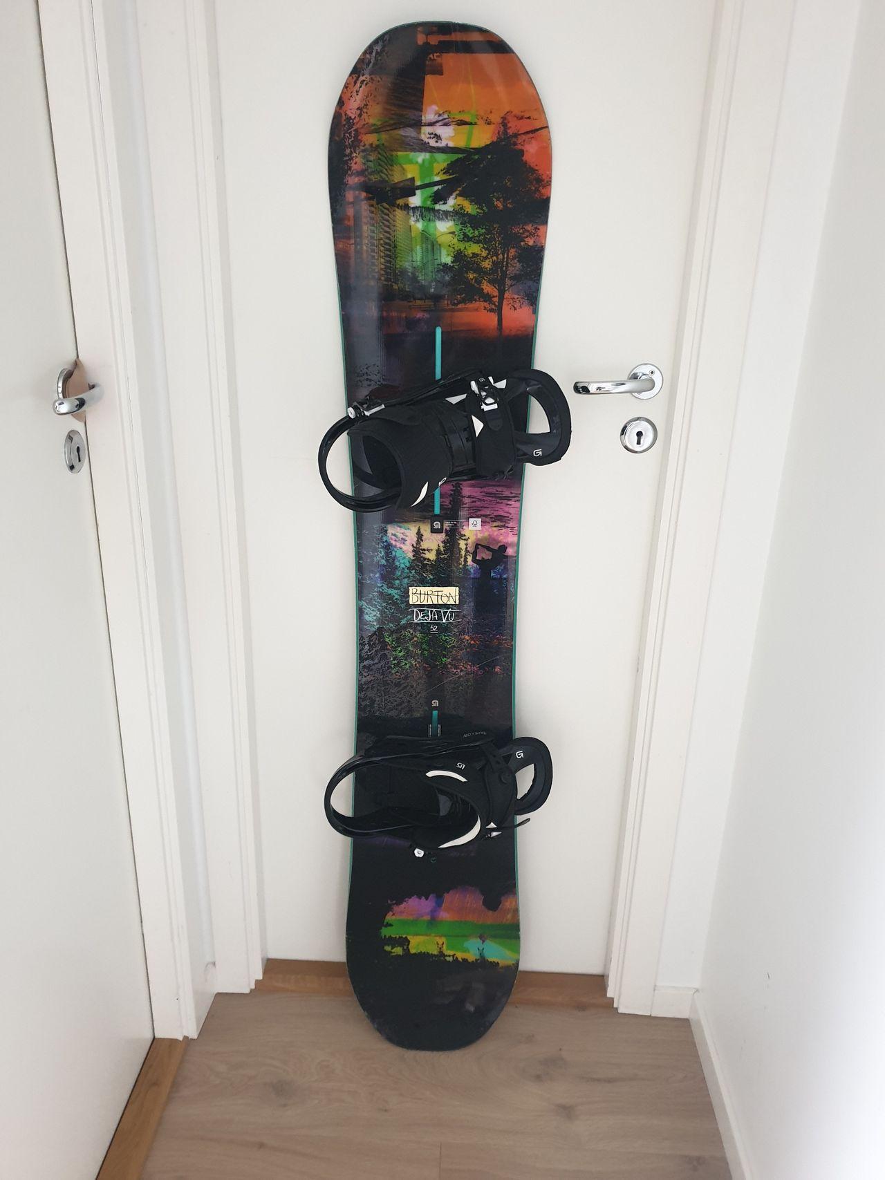 snowboard med vanlige sko