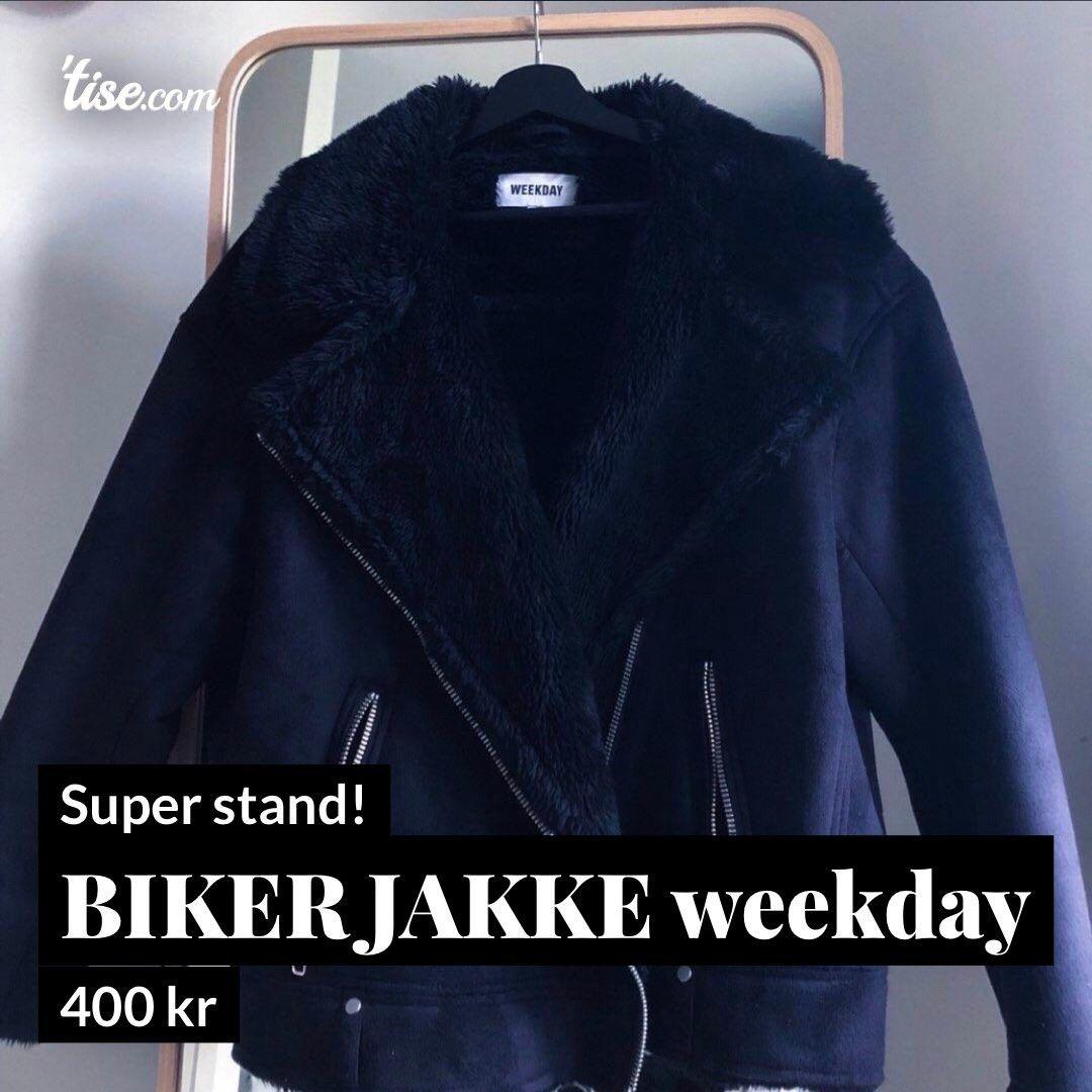 Bikerjakke i velur • Tise