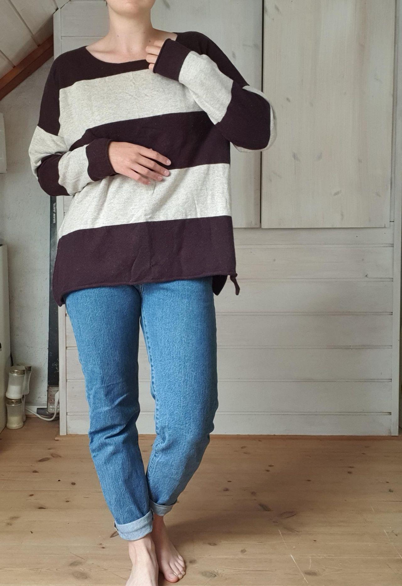 Myk og god stripete genser, str xl | FINN.no