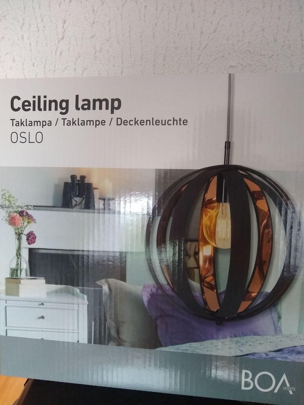 Taklampe fra Boa lights, modell Oslo | FINN.no
