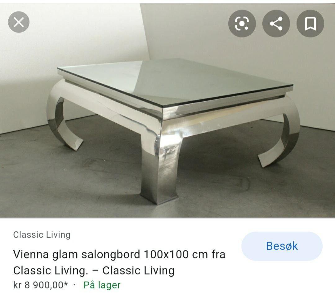 Vienna salongbord fra Classic Living   FINN.no