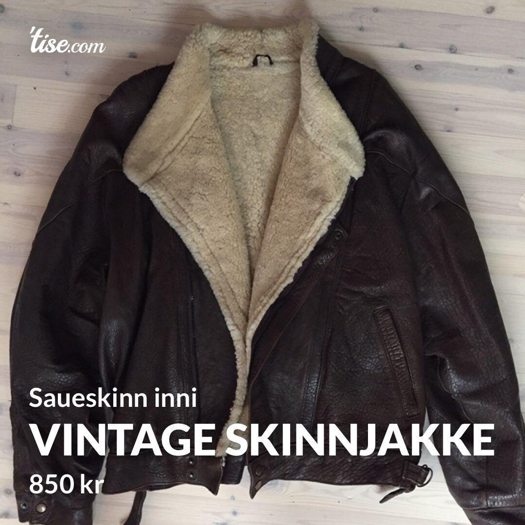 skinnjakke med ullfor (vintage) | FINN.no