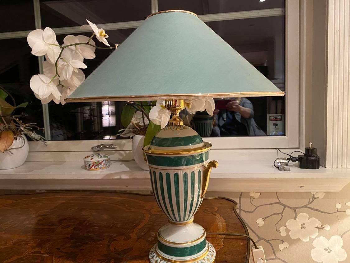 Italienske håndmalte porselenslamper fra Manifattura