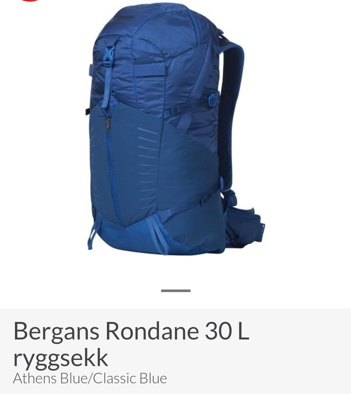 50% rabatt Bergans lett dagstursekk 30L | FINN.no