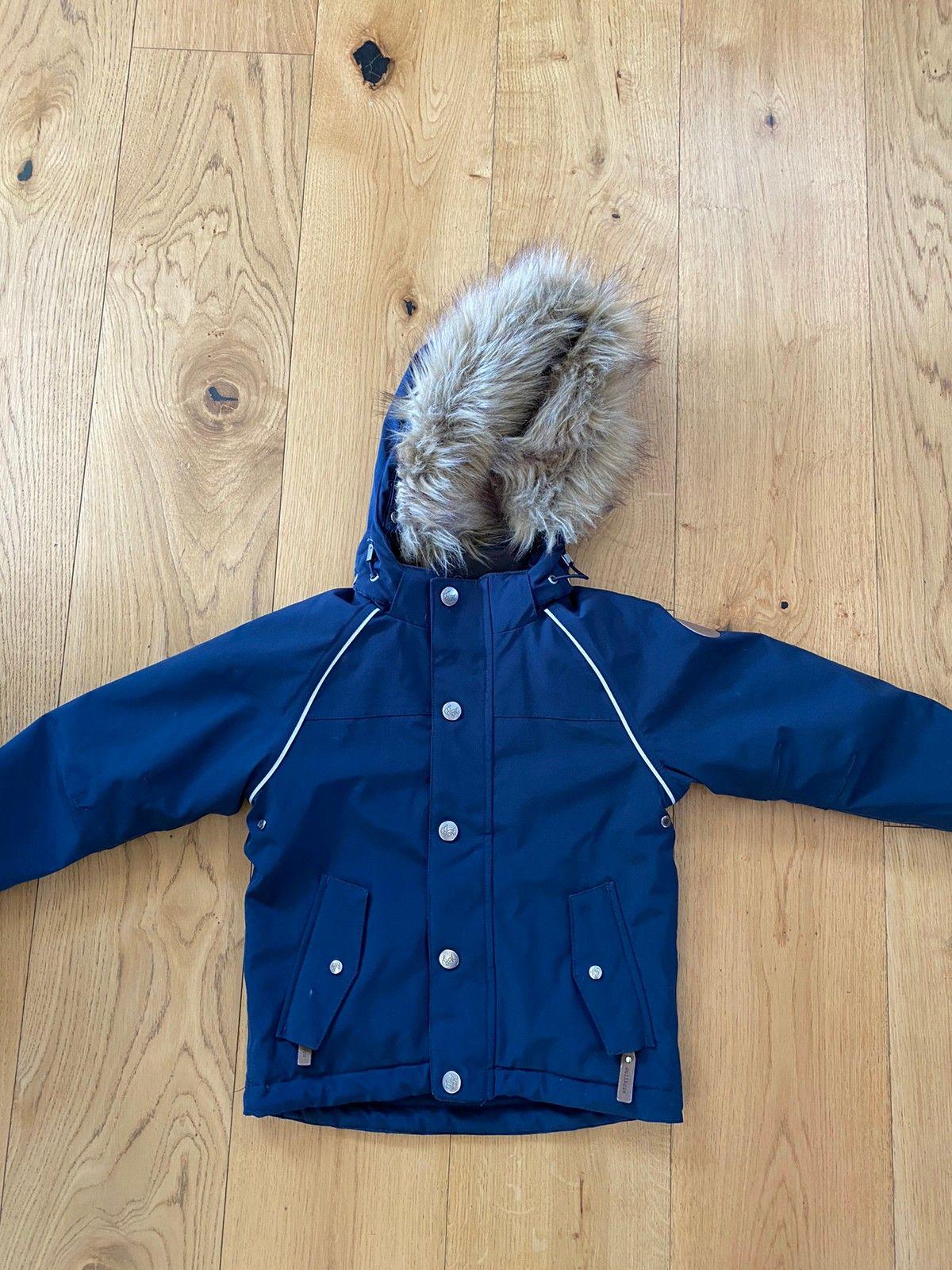 Blå vinterjakke kåpe til jente str 2 3 år (98)   FINN.no