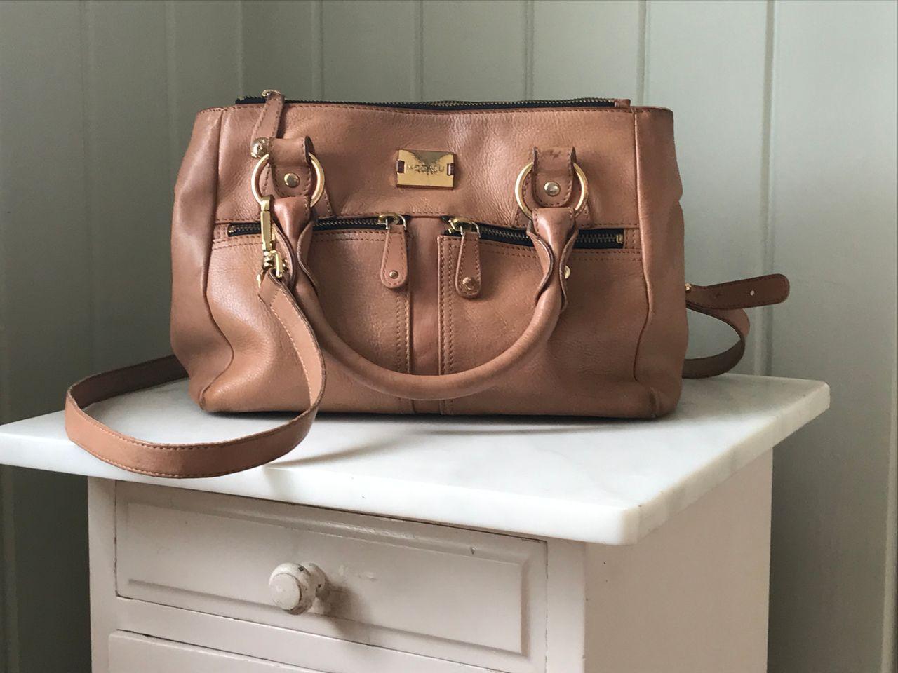 Modalu London Pippa veske med dustbag (nude, beige) | FINN.no