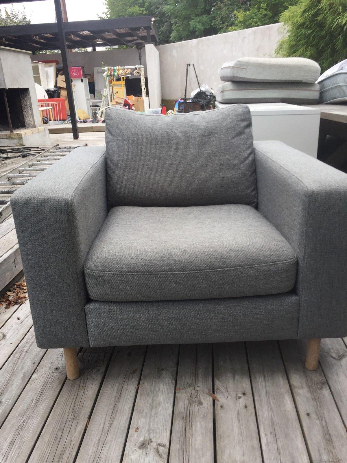 Lenestol ørelappstol fra habitat i grå eikeføtter | FINN.no