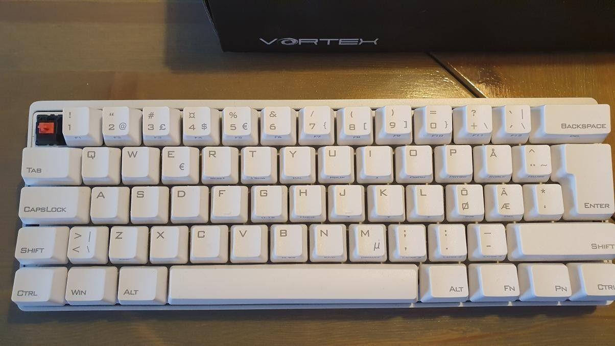 POK3R PBT Mekanisk Tastatur Hvit [MX Silent Red] | FINN.no