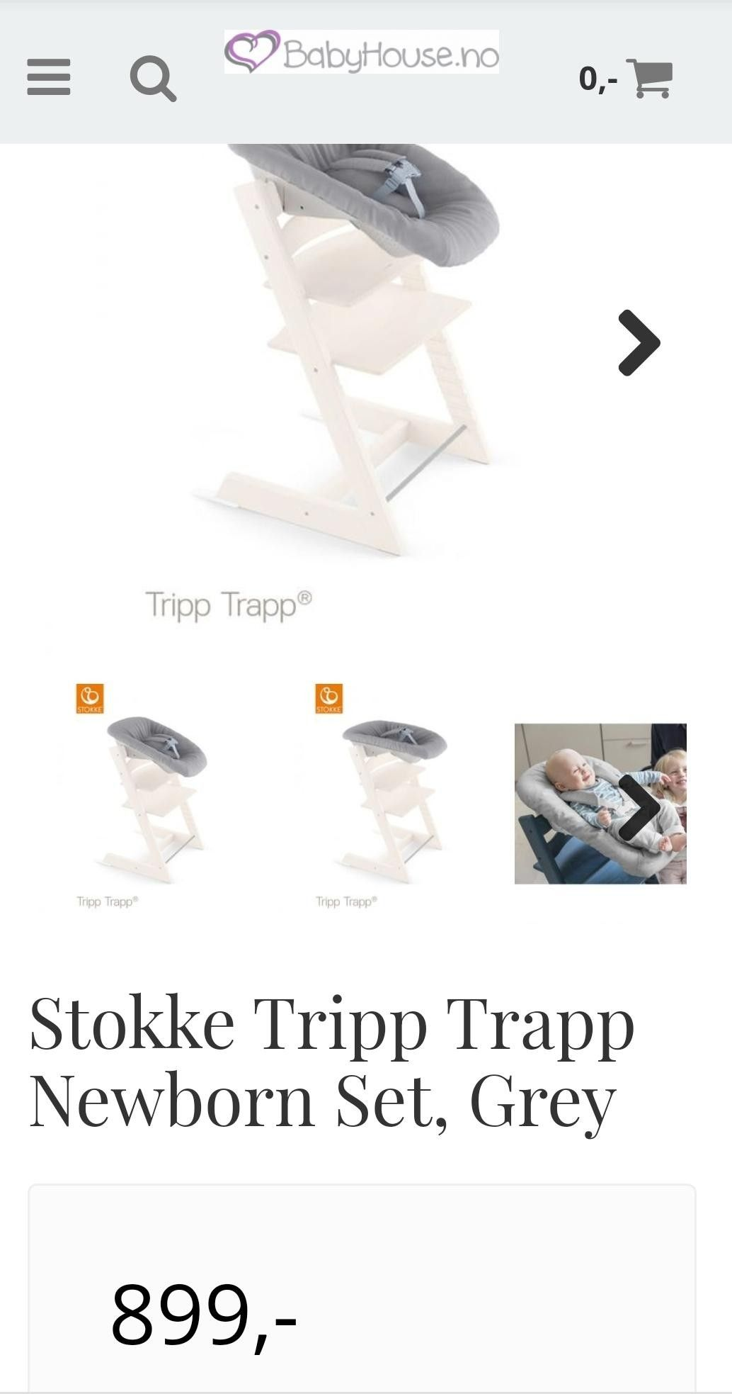 Stokke Tripp Trapp Stol, Hvit Babyhouse