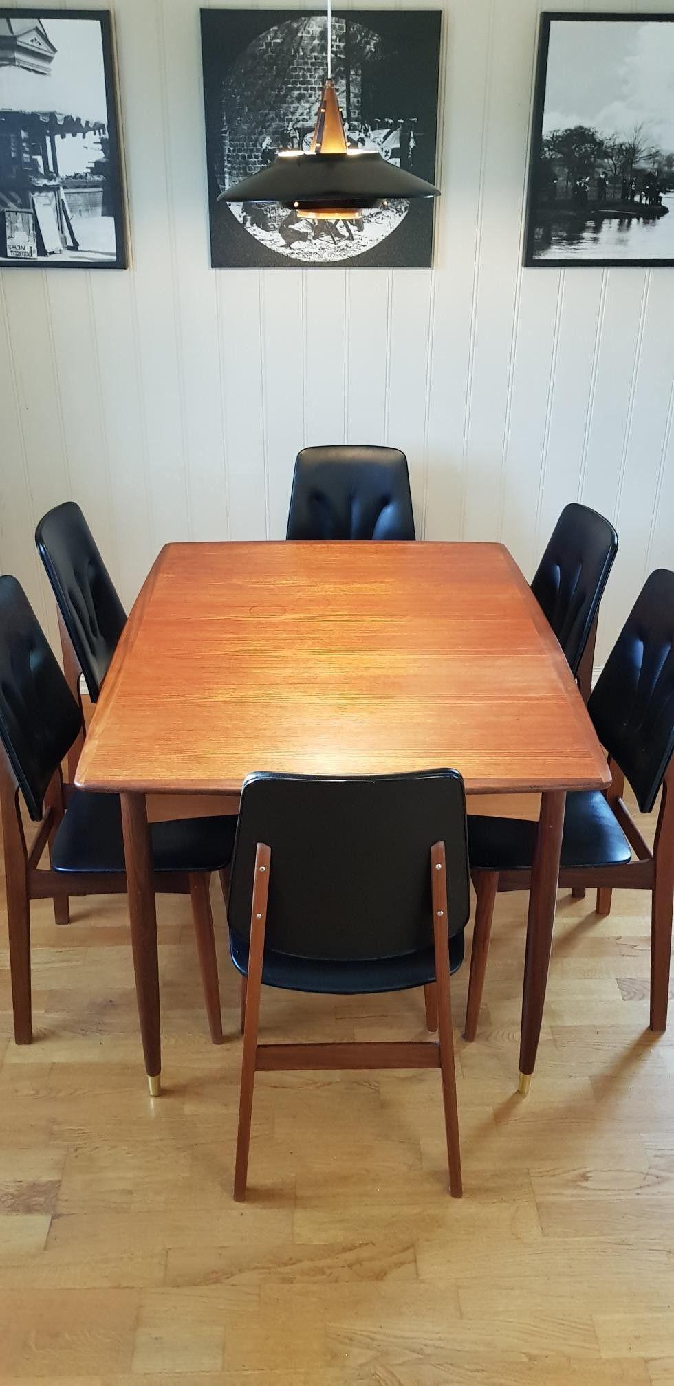 Retro spisebord i teak selges | FINN.no