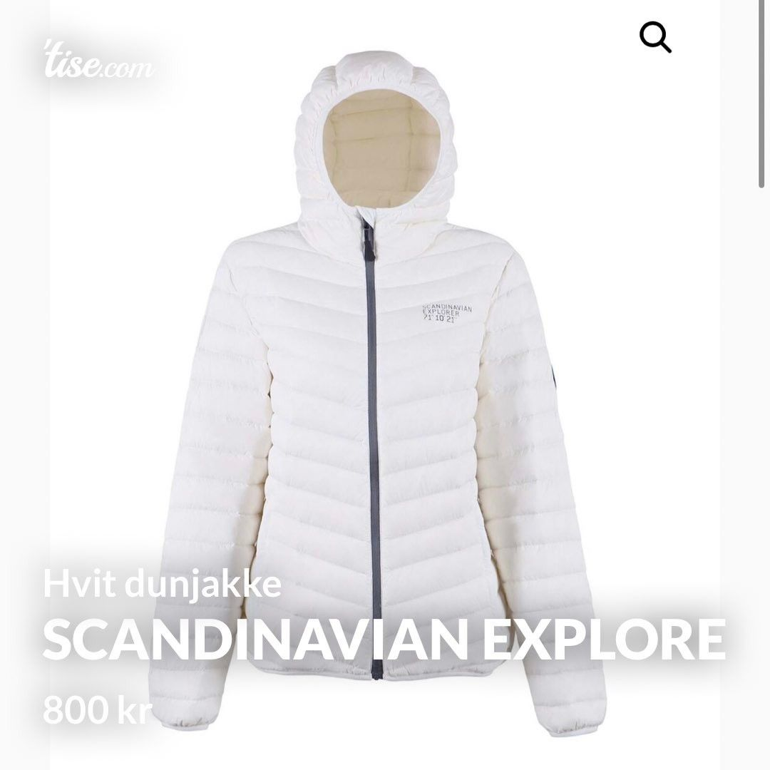Scandinavian Explorer dunjakke, rosa Alle tiders!