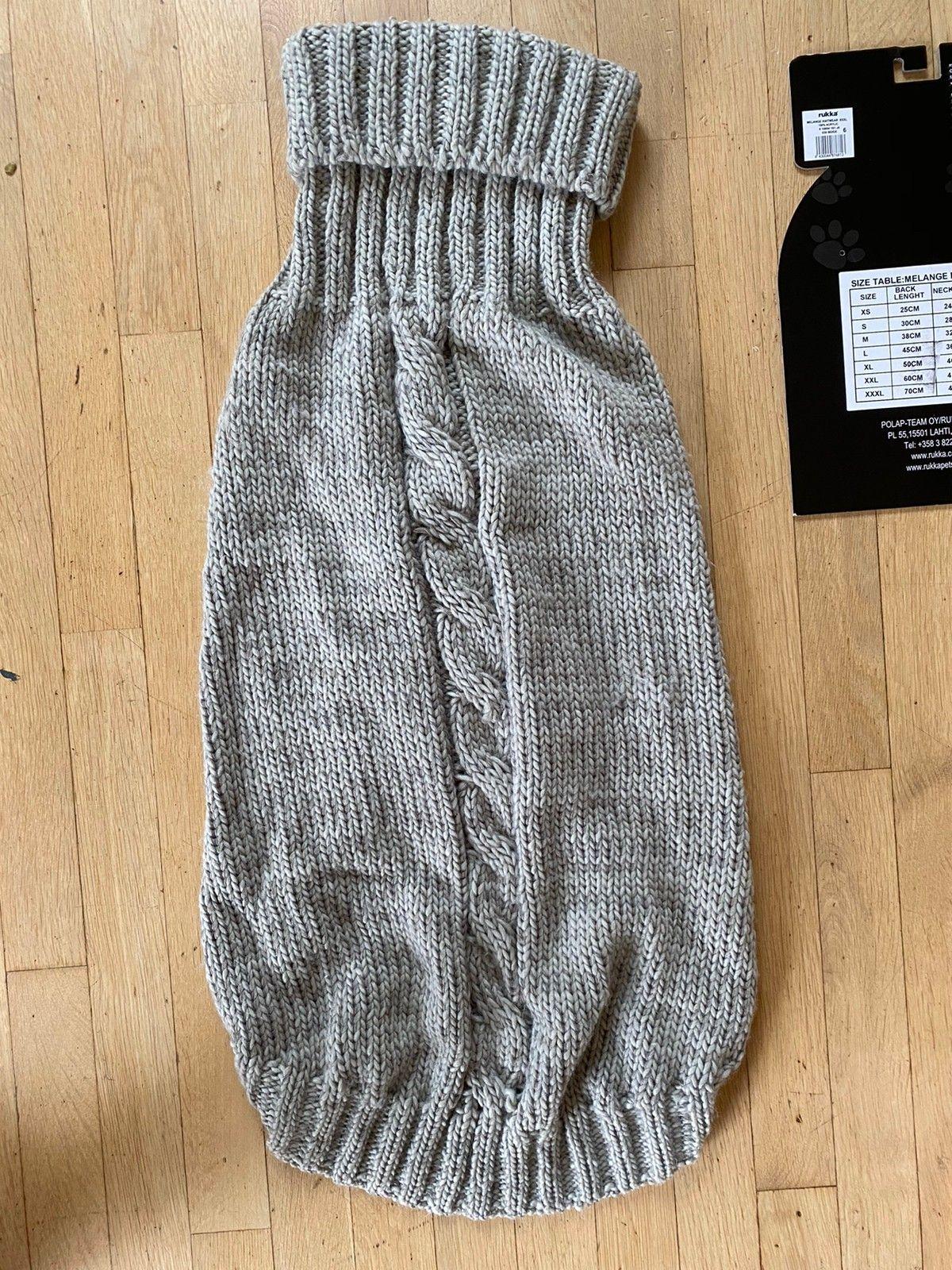strikke oppskrift hunde genser staff