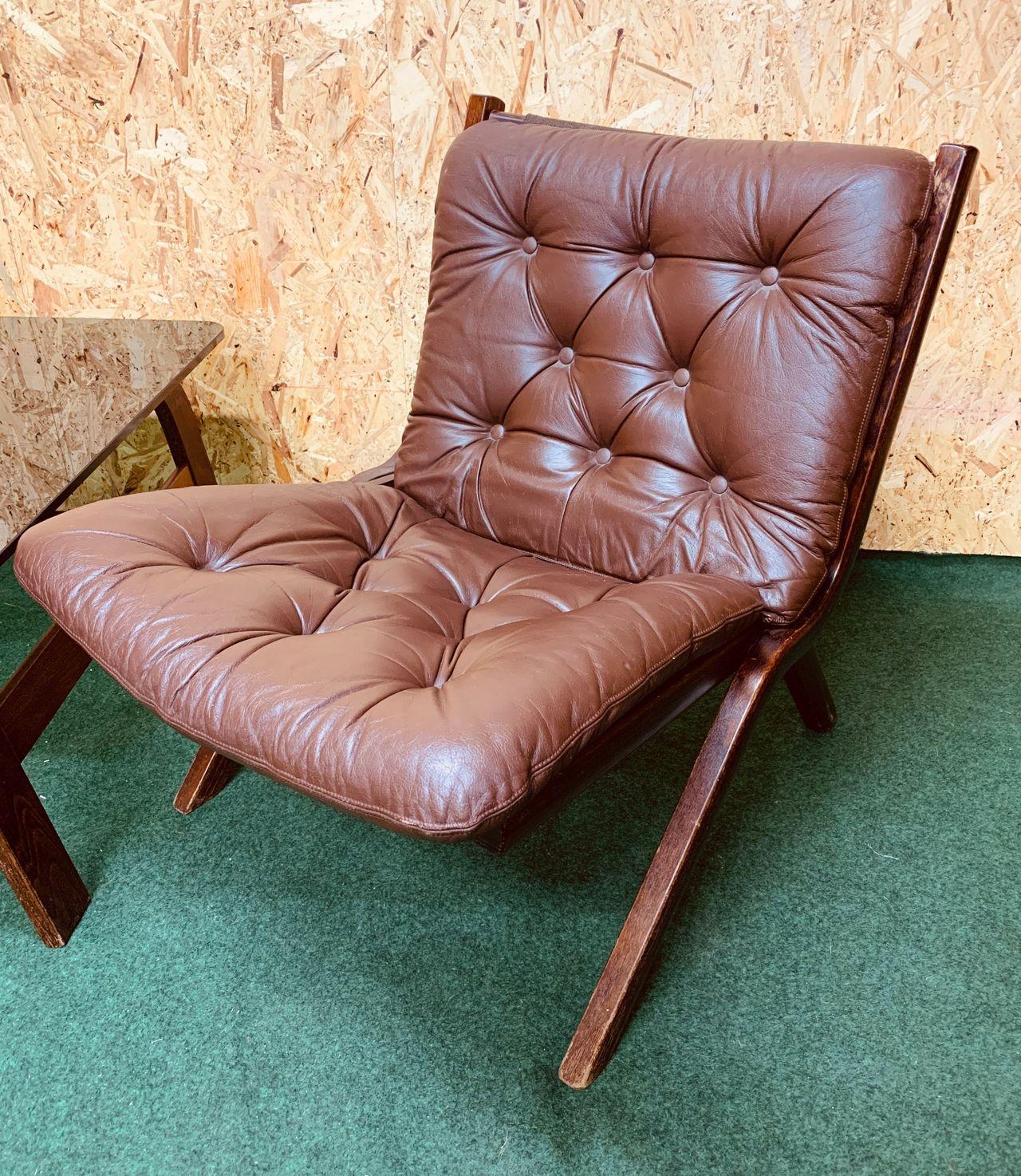 Restaurert retro lenestol fra Dokka møbler   FINN.no