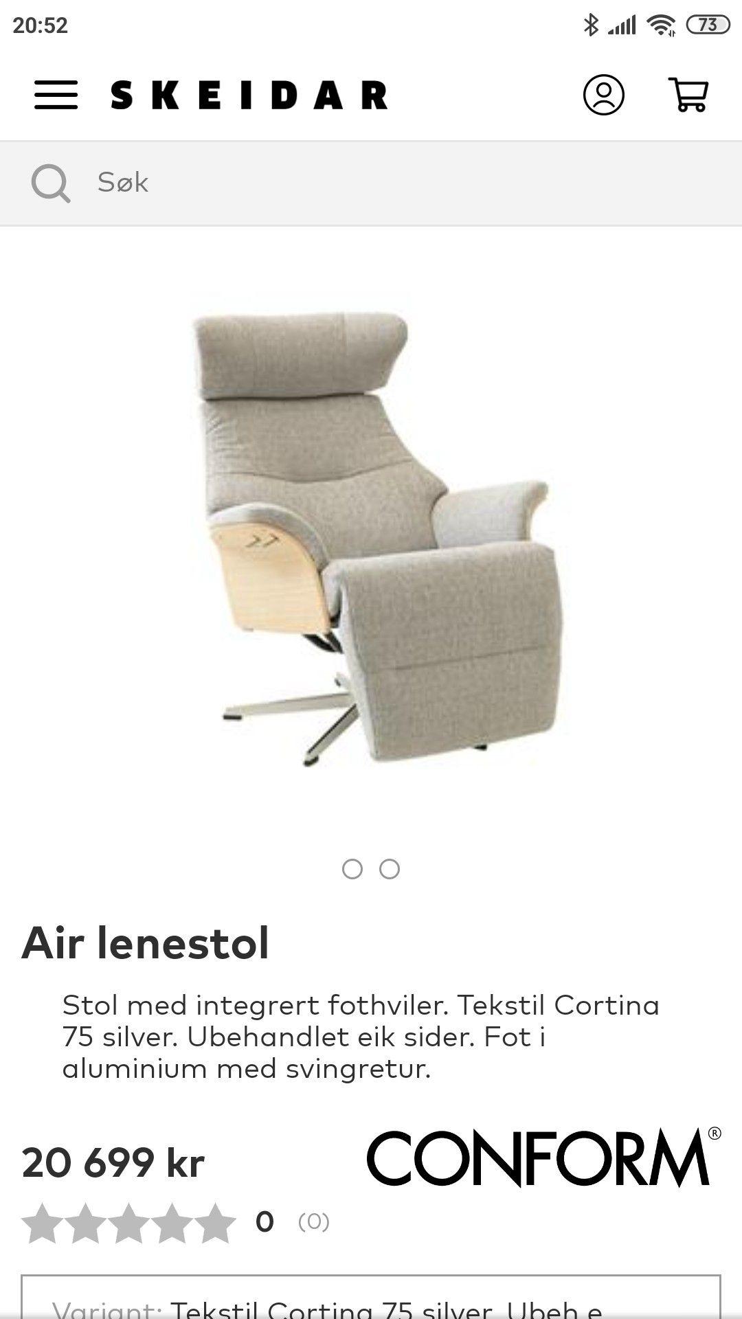 Conform Air hvilestol | FINN.no