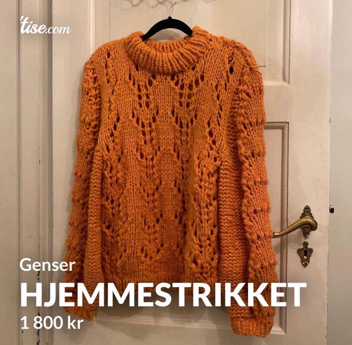Hjemmestrikket genser til salgs | FINN.no