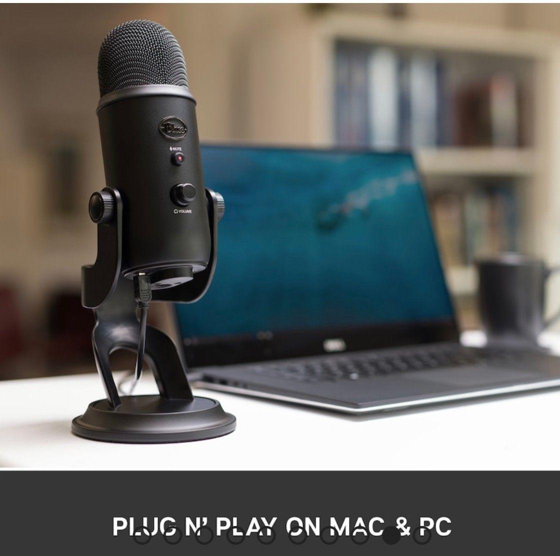 Blue Yeti Mikrofon , med filter og studioarm komplett