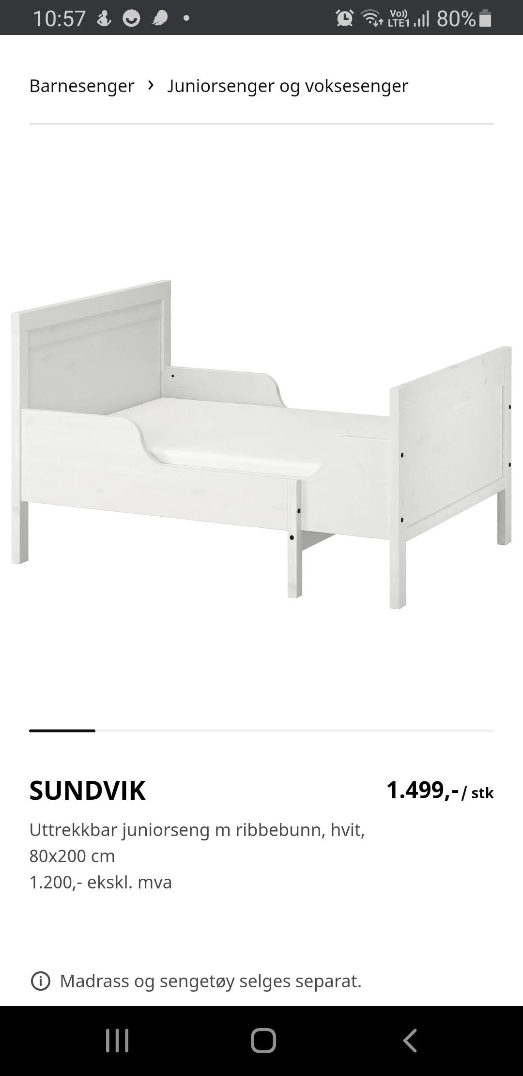 IKEA Sundvik barneseng | FINN.no