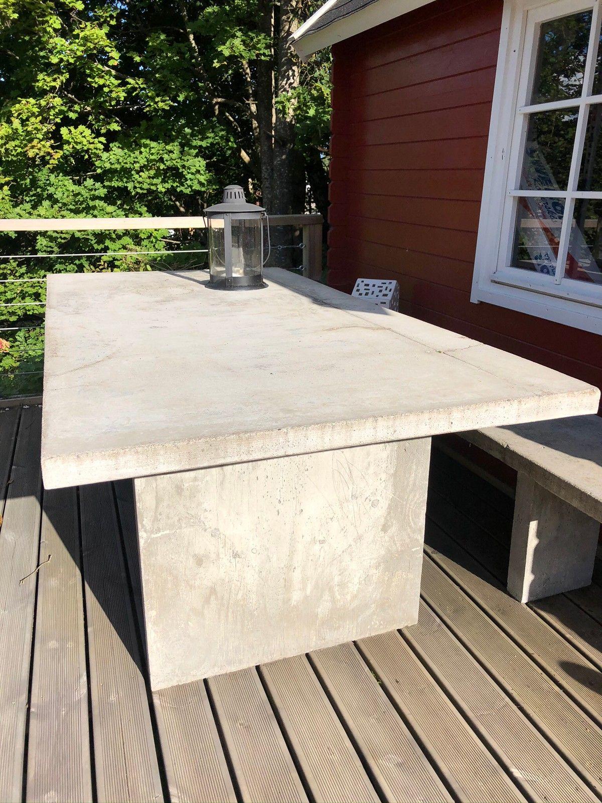 Betongmøbler hjemmelaget | FINN.no