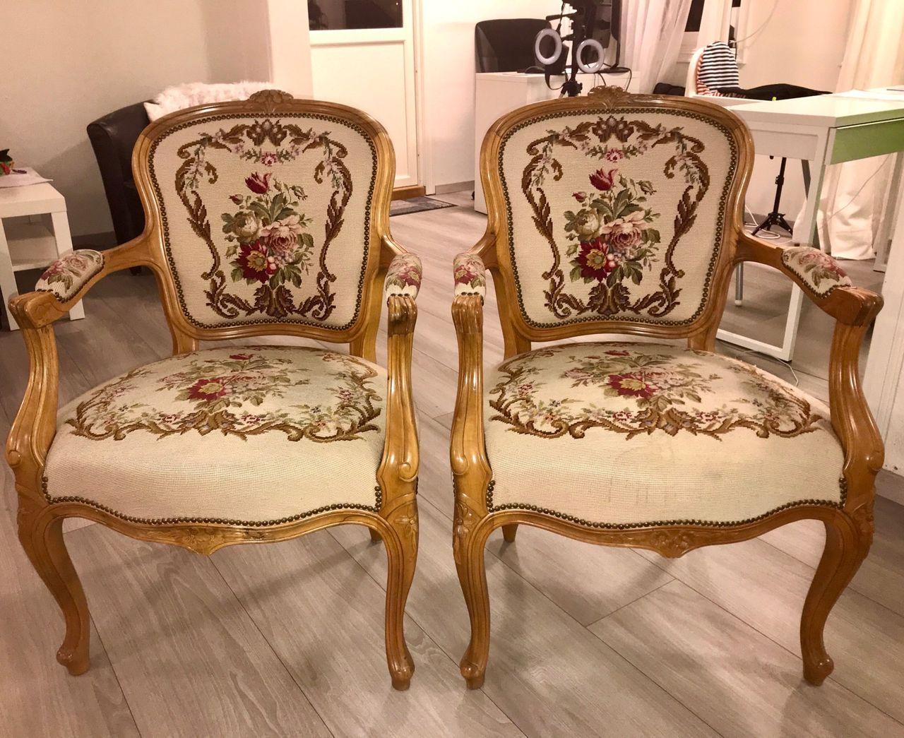 Selger 2 flotte stoler rokokko 400 per stol | FINN.no