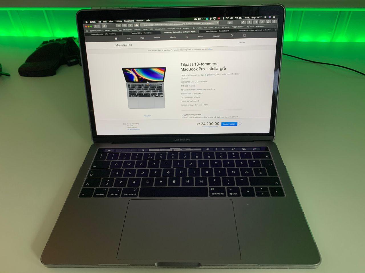 MacBook Pro (13 inch, 2017, Four Thunderbolt 3 Ports) | FINN.no