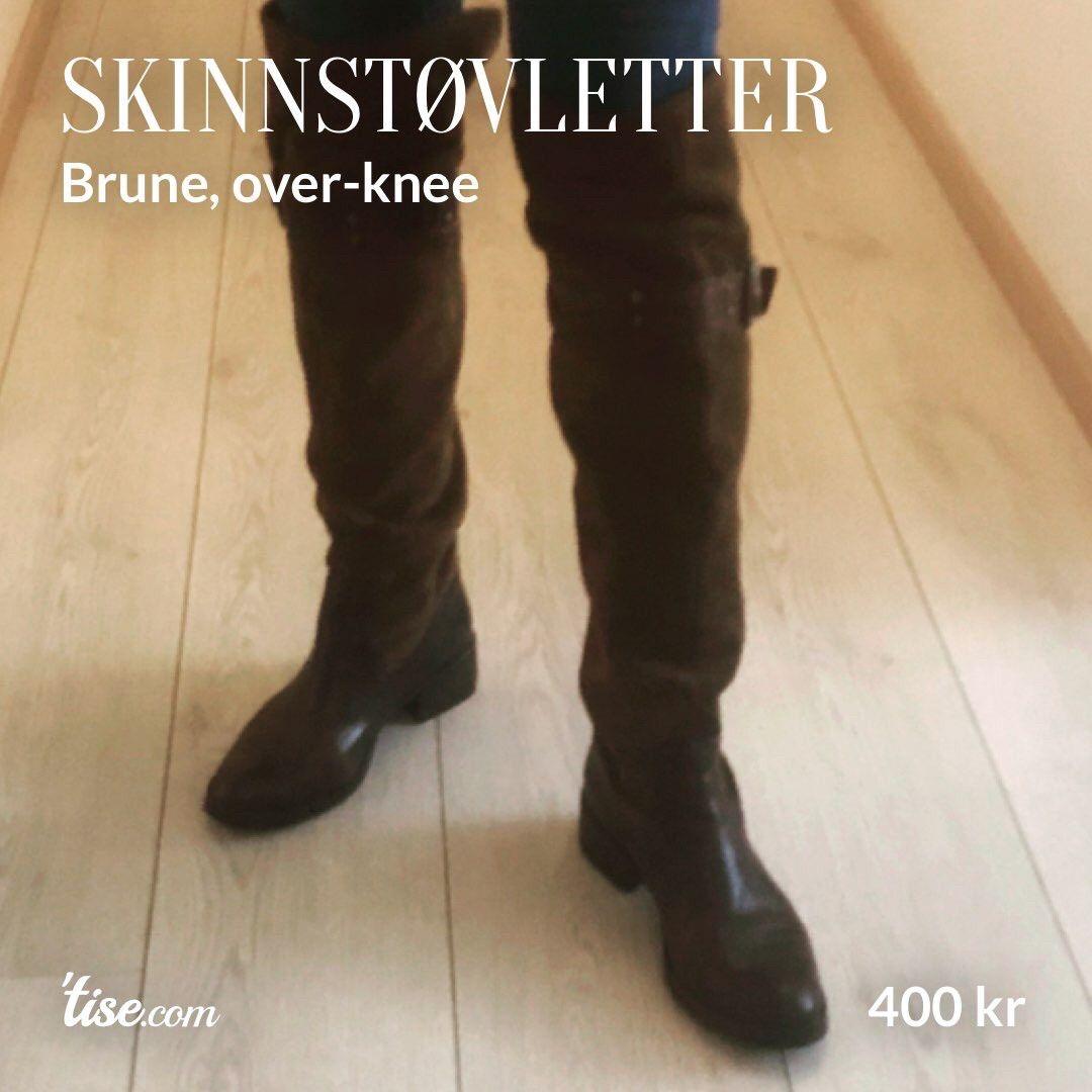 Brune støvletter i skinn str. 37 | FINN.no