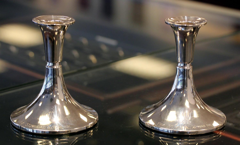 Bare ut Flotte lysestaker i 830 sølv   FINN.no HW-04
