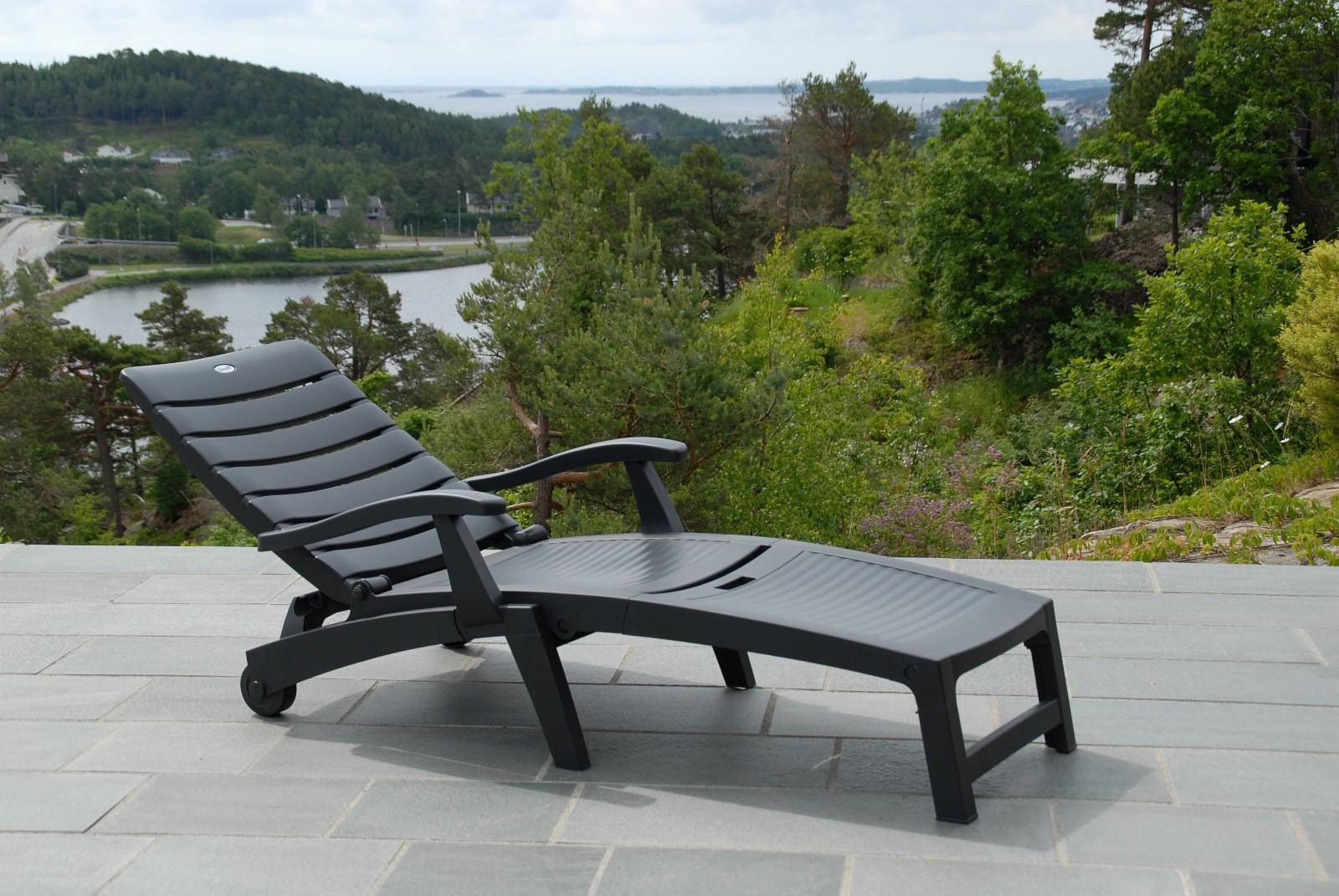 Fabriksnye Hartman plastmøbler Palmyra solseng - antrasittgrå | FINN.no XY-45