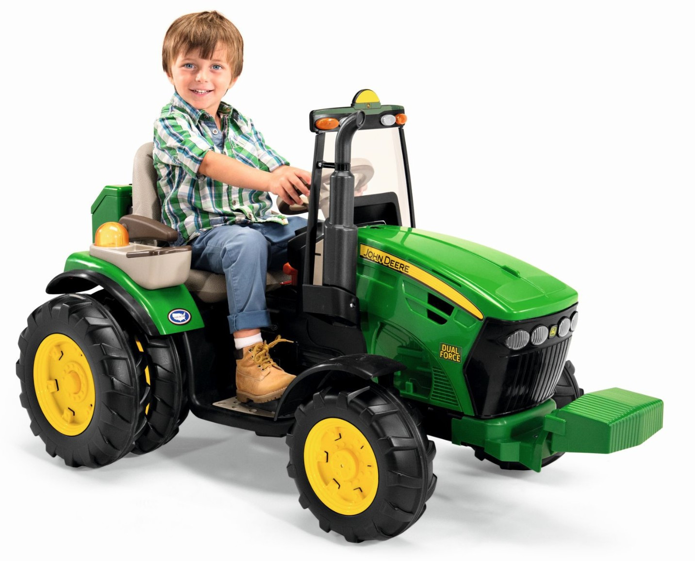 elektrisk traktor john deere dual force 12 volt med. Black Bedroom Furniture Sets. Home Design Ideas