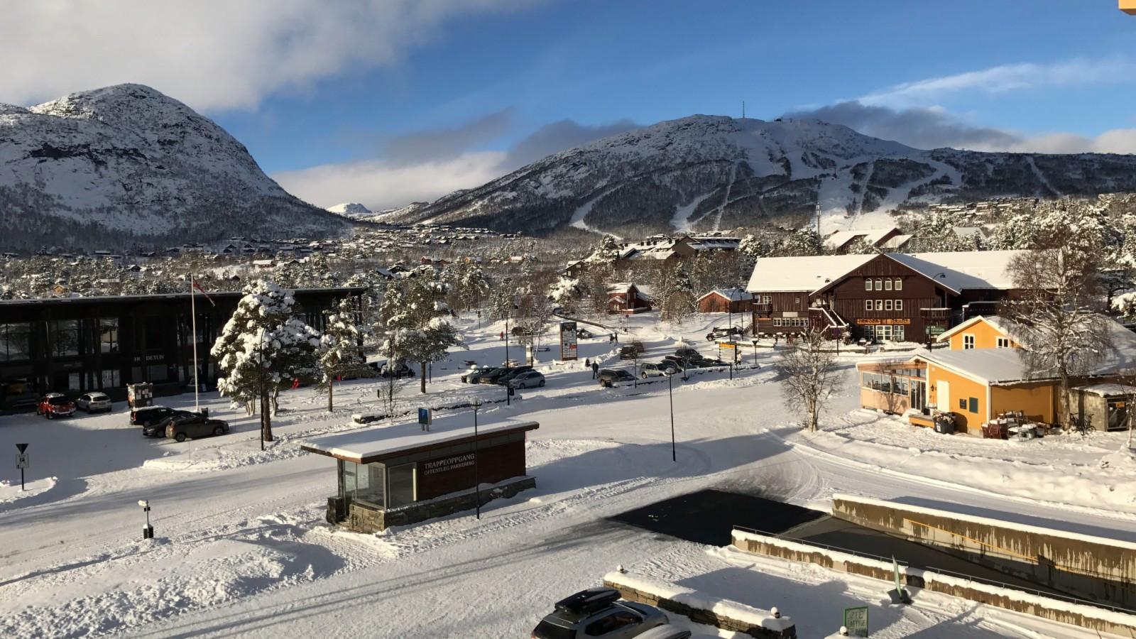 Utsikt mot skisenteret