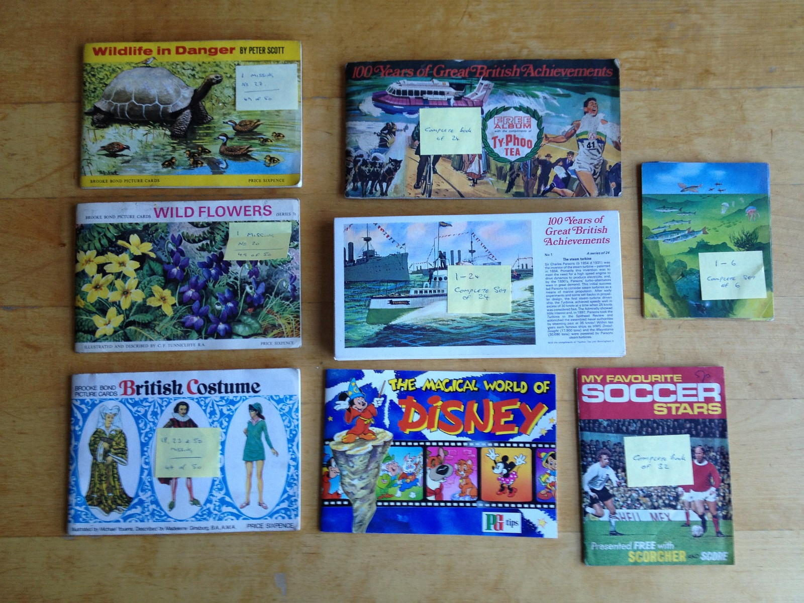 Picture Cards & Books Collection - Sandnes  - Almost Complete & Complete (Full) Picture Cards & Books Collection