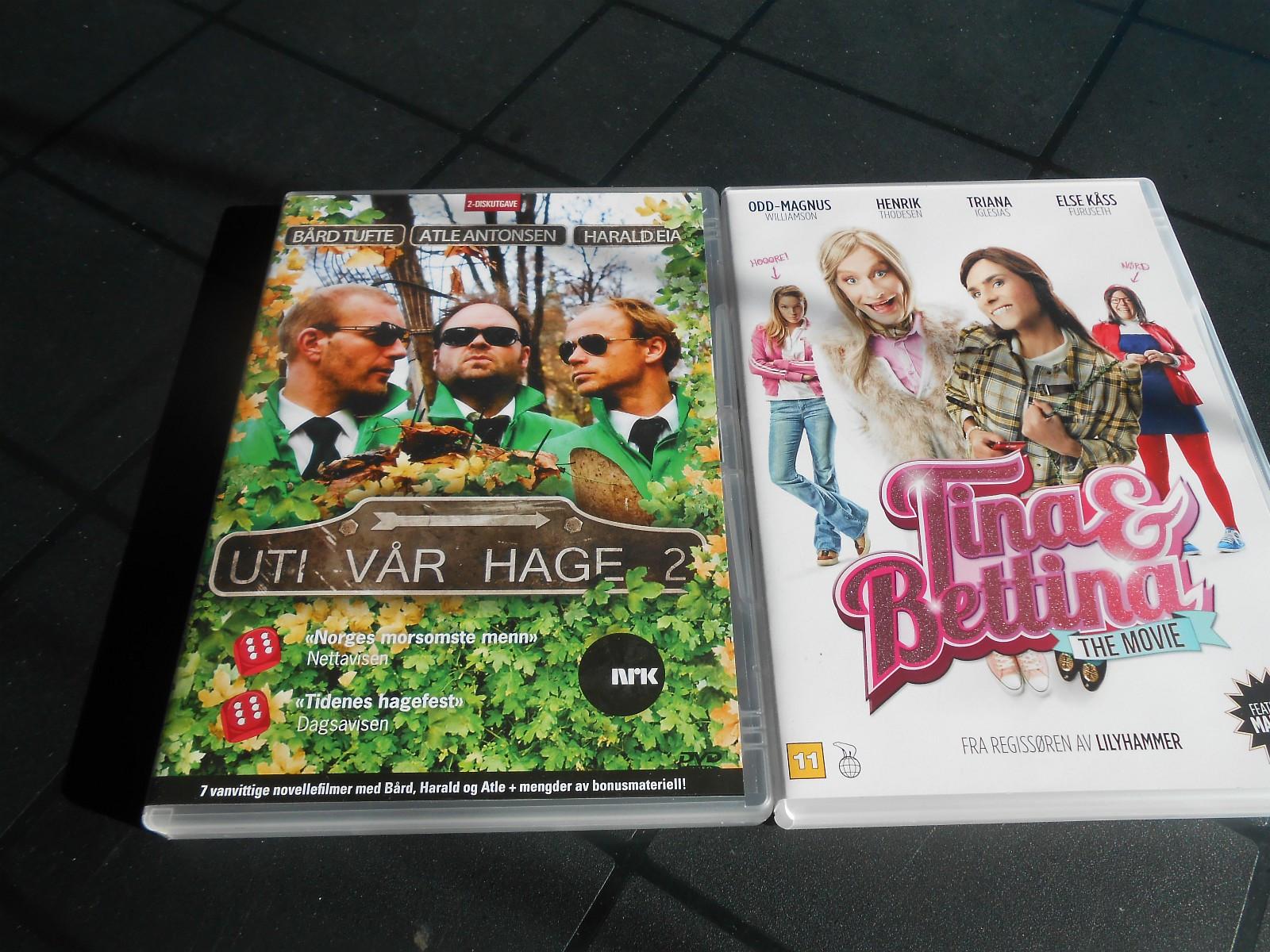 Ut i vår hage 2 , 2 dvd,   og Tina & Bettina - Skotterud  - Ut i vår hage 100 Tina & Bettina 50 - Skotterud