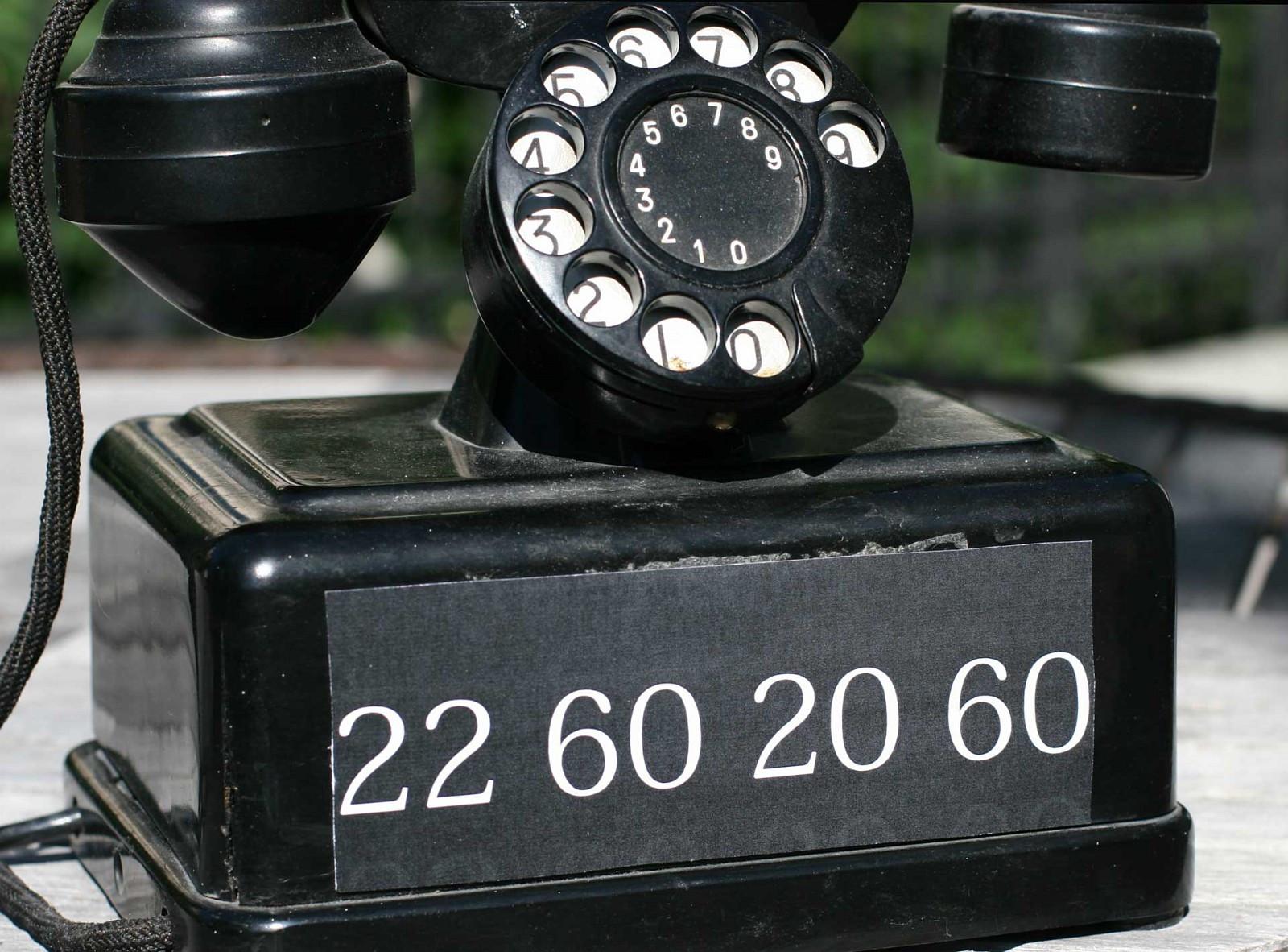 22 60 20 60 - klassisk gullnummer fra Oslo Vest - Oslo  - Gullnummer fra Oslo Vest selges høystbydende. Nummer 22 60 20 60 tilhørte opprinnelig en telefonsentral som dekket Majorstuen og Frogner. Det er et iøynefallende nummer, og derfor lett å huske. Kan overføres som IP-telefon (for eksempel via I - Oslo