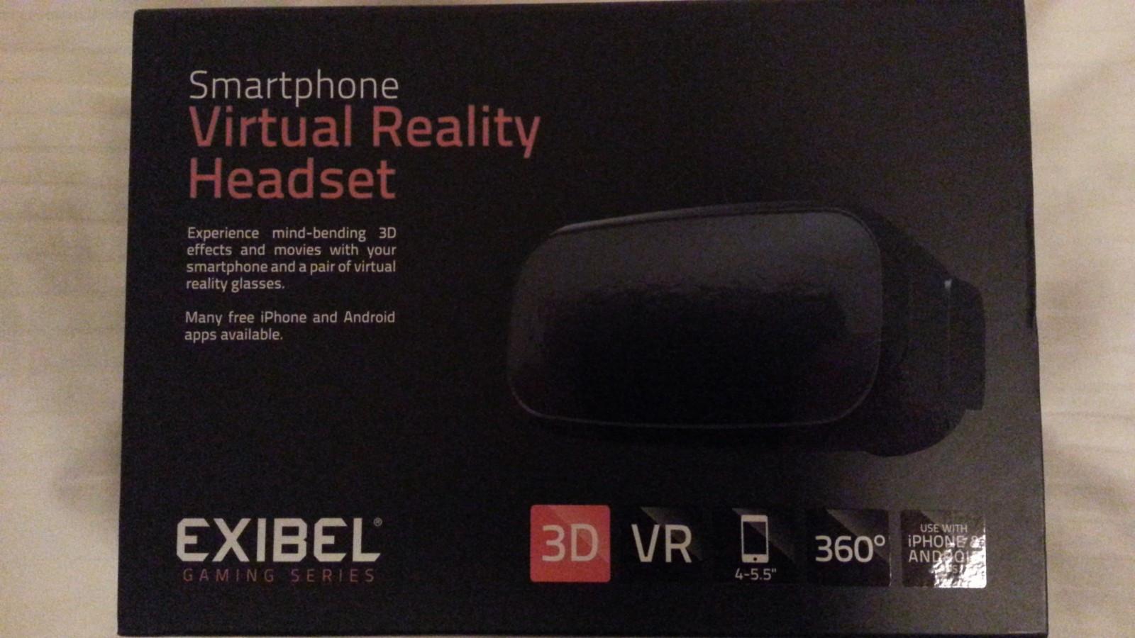 """Virtual Reality Headset til Smartphone - ås  - Smartphone headset fra Exibel. Passer 4-5.5"""" skjerm. Helt ny! Koster 249,- på Clas Ohlson Pris kan diskuteres! De passer ikke telefonen min, så vil bare bli kvitt de. - ås"""