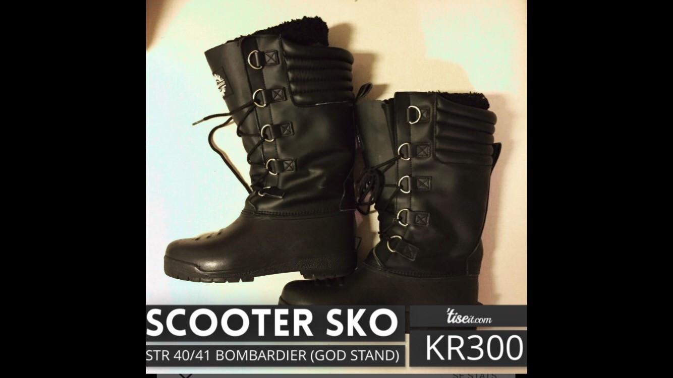 Scooter sko - Bombardier - Tønsberg  - Scooter sko fra Bombardier. Jeg har Vipps, kjøper betaler porto, skoene kan også hentes i Tønsberg! - Tønsberg