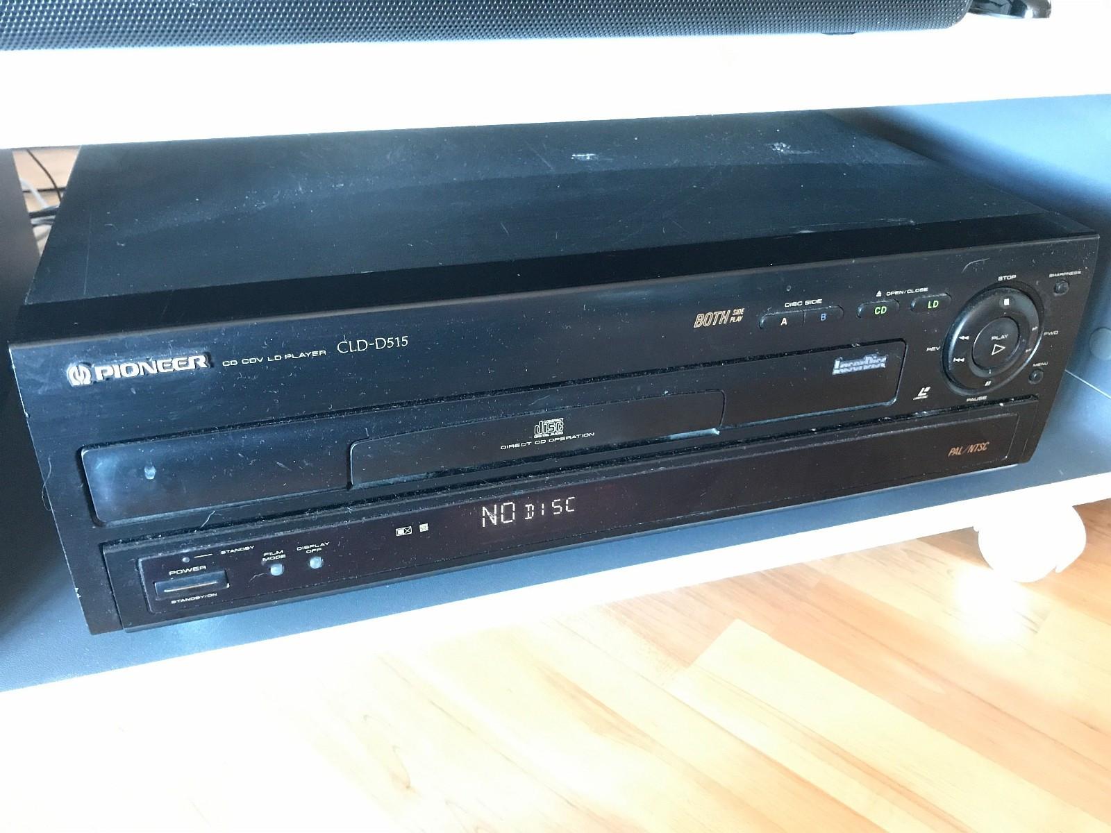 Pioneer CLD-D515 Laserdisc-spiller - Kongsvinger  - Selger en Pioneer Laserdisc spiller. Den spiller begge sider og støtter både PAL/NTSC. Den kan også brukes på 220V. Fjernkontroll medfølger.  Laserdisk - Kongsvinger